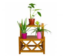Suport supraetajat pentru flori din lemn masiv - Comanda Suporturi flori