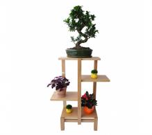 Comanda suporturi flori - Suport pentru plante cu polite suspendate ,stejar natur