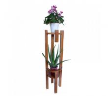 Comanda suport flori - Suport pentru flori cu polite rotunde -  stejar inchis