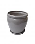 comanda ghiveci ceramic cu farfurie 28 cm