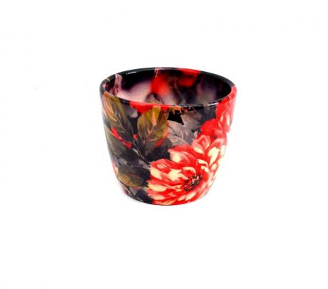 Masca ceramica ovala pentru ghiveci  D 10.5 cm