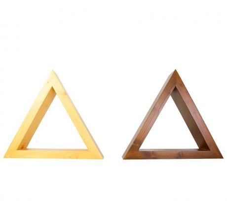 Set rafturi triunghiulare pentru mini plante, lemn masiv